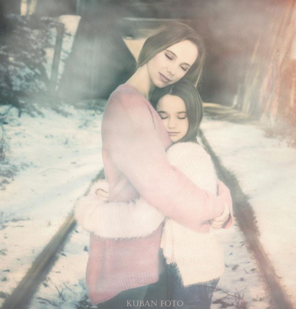 Die gegenseitige Liebe der Mutter zu der Tochter