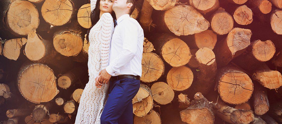 Ehepaar im Wald